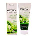 Пенка для умывания тонизирующая с экстрактом зеленого чая Deoproce Natural Perfect Solution Cleansing Foam Green Tea 170 гр