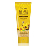 Скраб для тела с маслом семян подсолнуха Deoproce Relief Perfume Body Scrubwash Yellow 200 гр