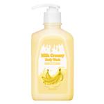 Гель для душа с молочными протеинами банановый Berrisom G9SKIN Milk Creamy Body Wash Banana 520 гр