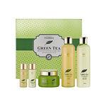 Набор для лица уходовый с экстрактом зеленого чая Deoproce Premium Green Tea Total Solution 3 Set 260мл*2/ 100мл / 30мл*2