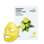 Маска для лица тканевая осветляющая с экстрактом цитрусовых Eyenlip Calamansi Vitamin Solution Mask 25 мл