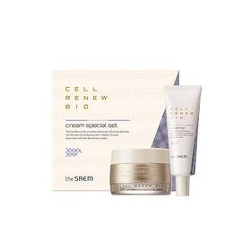 Набор уходовый антивозрастной крем для лица+крем для глаз The Saem Cell Renew Bio Eye Cream Special Set N2 60 мл+20 мл