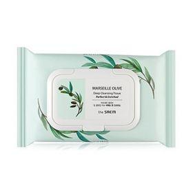 Салфетки очищающие с оливой и растительными экстрактами THE SAEM Marseille Olive Deep Cleansing Tissue 40 шт