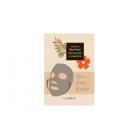 Маска тканевая грязевая The Saem Black Pearl Gem Miracle Mud Pack Sheet 18 гр