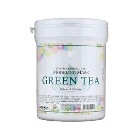Маска альгинатная с экстрактом зеленого чая успокаивающая, с антиоксидантами (банка) Anskin Green Tea Modeling Mask container 700 мл
