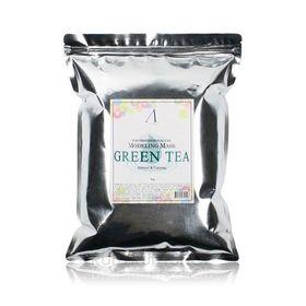 Маска альгинатная 1 КГ с экстрактом зеленого чая успокаивающая, с антиоксидантами (пакет) Anskin Green Tea Modeling Mask container