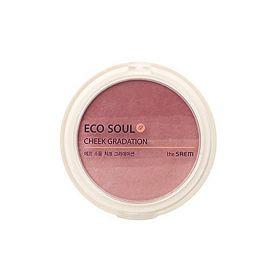 Румяна компактные градиентные The Saem Eco Soul Cheek Gradation 9,5 г