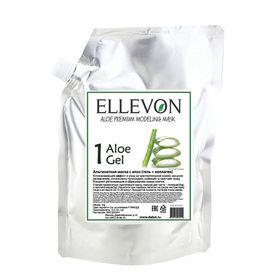 Альгинатная маска премиум с алоэ (гель + коллаген) Ellevon Aloe Modeling Mask 1000 мл+100 мл