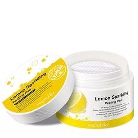 Диски ватные для пилинга с экстрактом лимона и салициловой кислотой Secret Key Lemon Sparkling Peeling Pad 70 шт