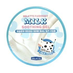 Гель для лица и тела многофункциональный с молочными протеинами Milatte Fashiony Milk Soothing Gel 300 мл