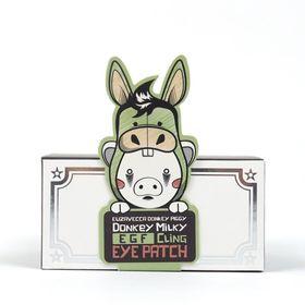 Патчи для глаз с молоком ослиц Elizavecca Donkey Milky EGF Cling Eye Patch 60 шт
