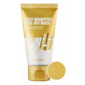 Маска-пленка для лица с золотом Berrisom Face Wrapping peel off pack Gold 50 мл
