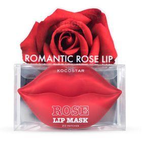 Гидрогелевые патчи для губ с экстрактом розы KOCOSTAR Rose Lip Mask 50 гр (20 шт)