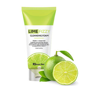 Пенка для умывания с экстрактом лайма и газированной водой Secret Skin Lime Fizzy Cleansing Foam 120 мл