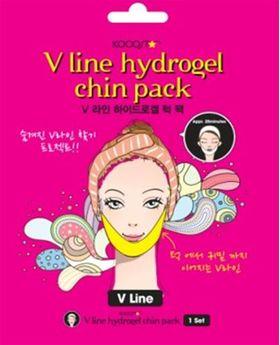 Гидрогелевая маска для зоны подбородка с эффектом лифтинга KOCOSTAR V line Hydrogel Chin Pack 9 г