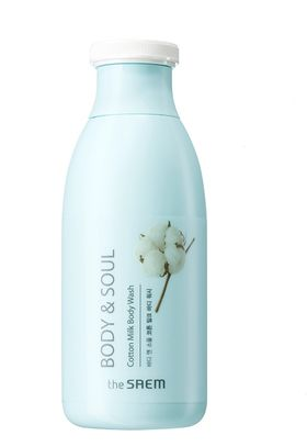 Гель для душа молочный The Saem Body & Soul Cotton Milk Body Wash 300 мл