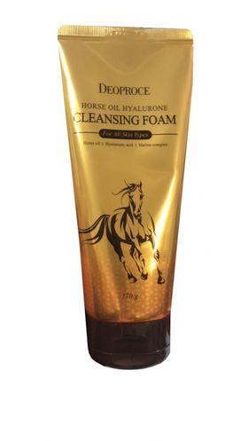 Пенка для умывания с гиалуроновой кислотой и лошадиным жиром Deoproce Horse Oil Hyalurone Cleansing Foam 170 гр
